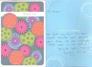 Dental expert witness thank you card