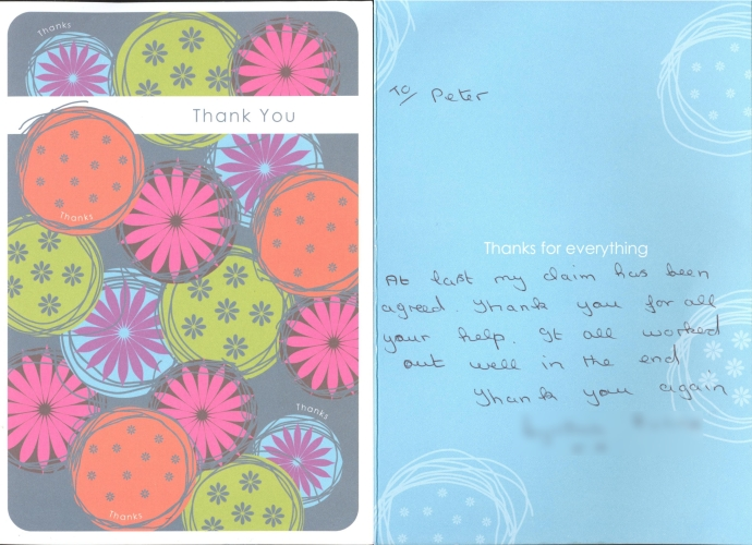 Dental expert witness thank you card